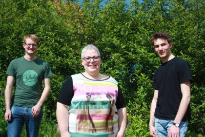 Vorstand des OV St. Wendel, v.l.n.r. Sören Bund-Becker, Yvonne Reis, Laurenz Riedschy