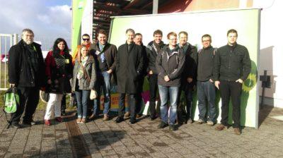 Die Vertreterinnen und Vertreter des Saarlandes beim Bundesparteitag in Halle