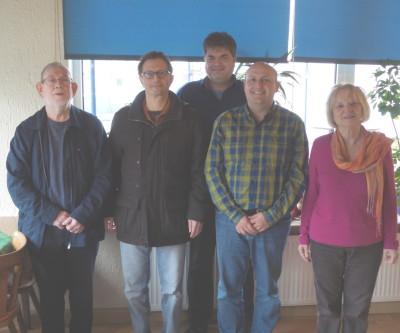 Von rechts nach linksIrene,Alex R., Alex L,Peter,  Josef